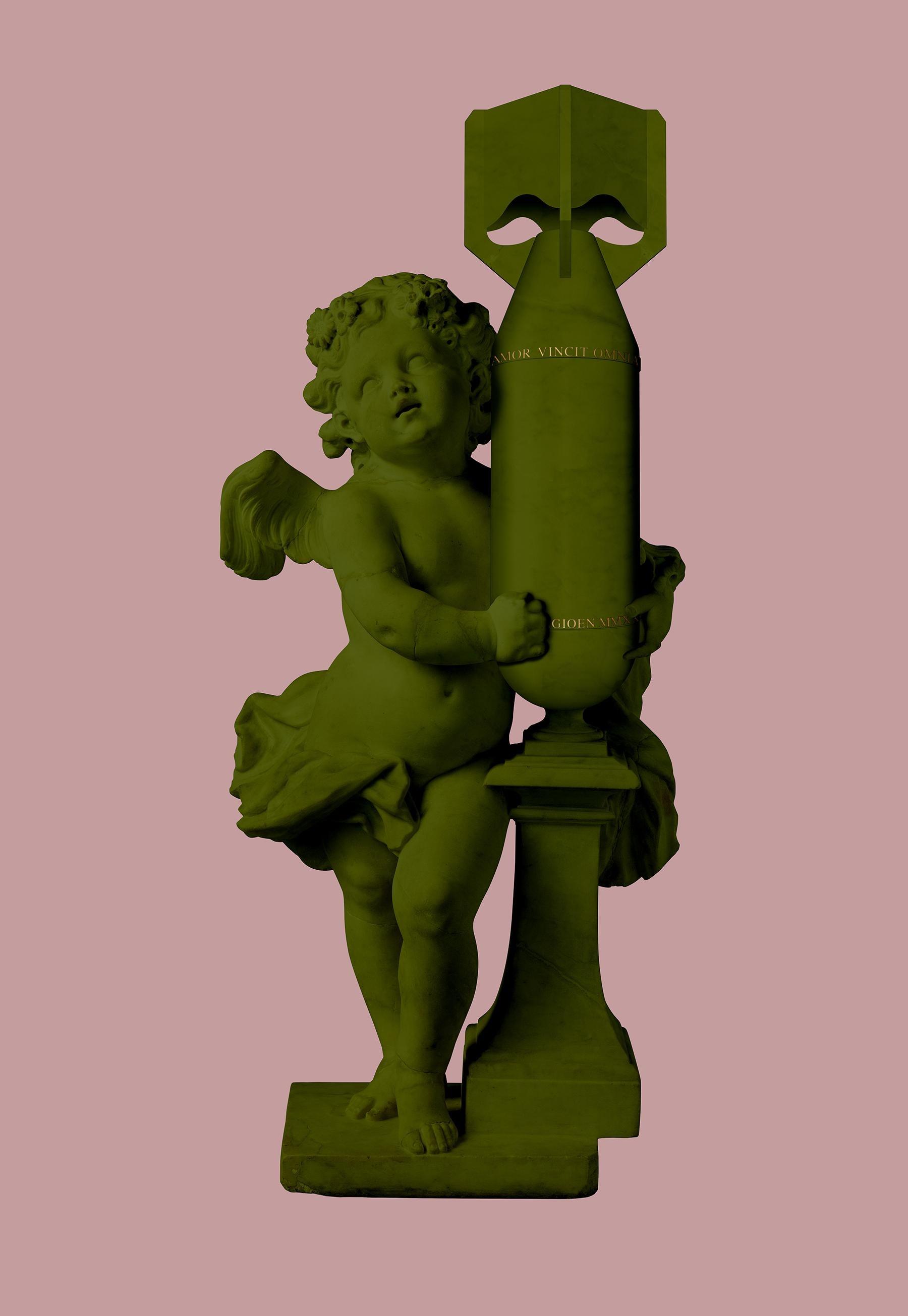 CUPID (AMOR VINCIT OMNIA) ARMY GREEN
