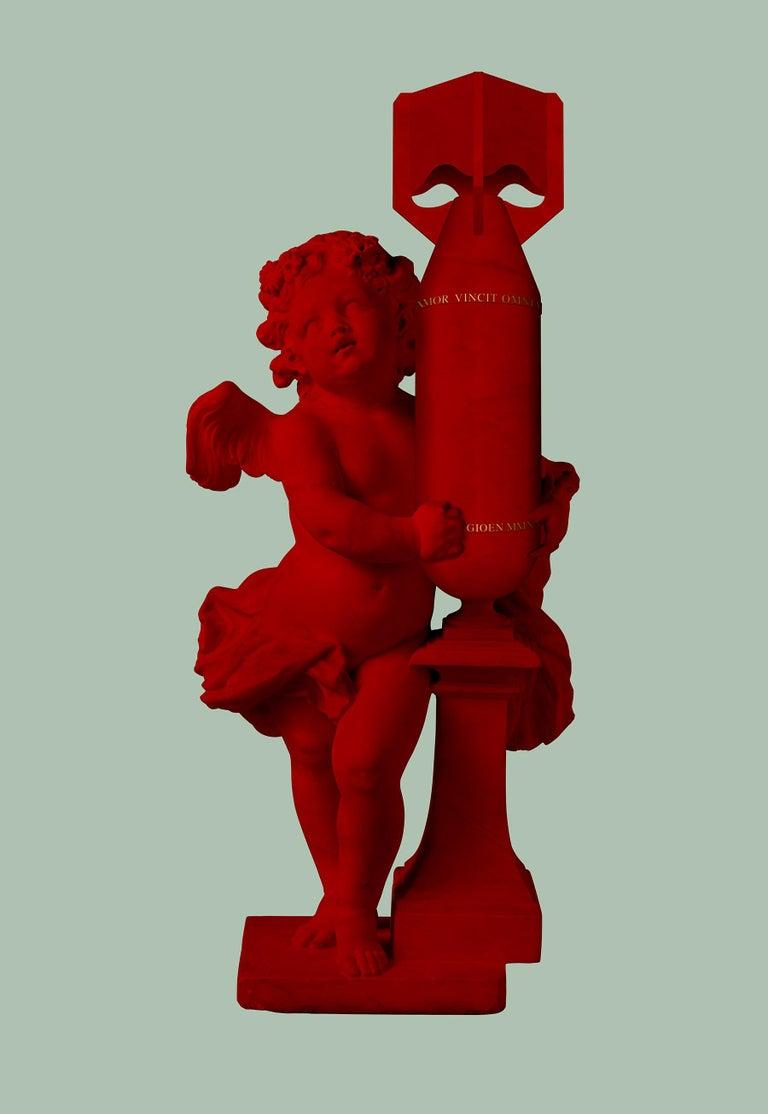 Magnus Gjoen Figurative Print - CUPID (AMOR VINCIT OMNIA) RED