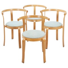 Magnus Olesen Stackable Chairs, Denmark, 1980s