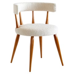 Magnus Stephensen Attributed Chair in Beech and Dedar Bouclé, Denmark, 1950s