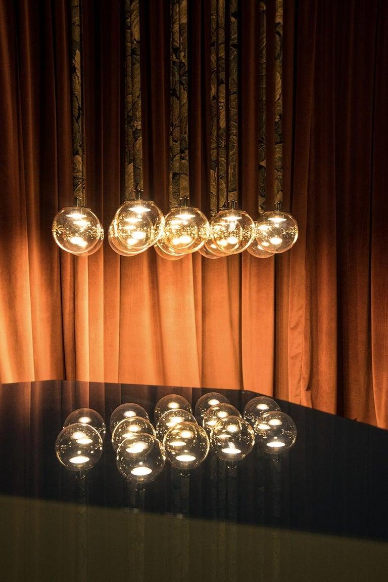 Magus Suspension 13 lamps in Murano Glass by Filippo Feroldi (Euro)  In New Condition For Sale In Brembate di Sopra (BG), IT