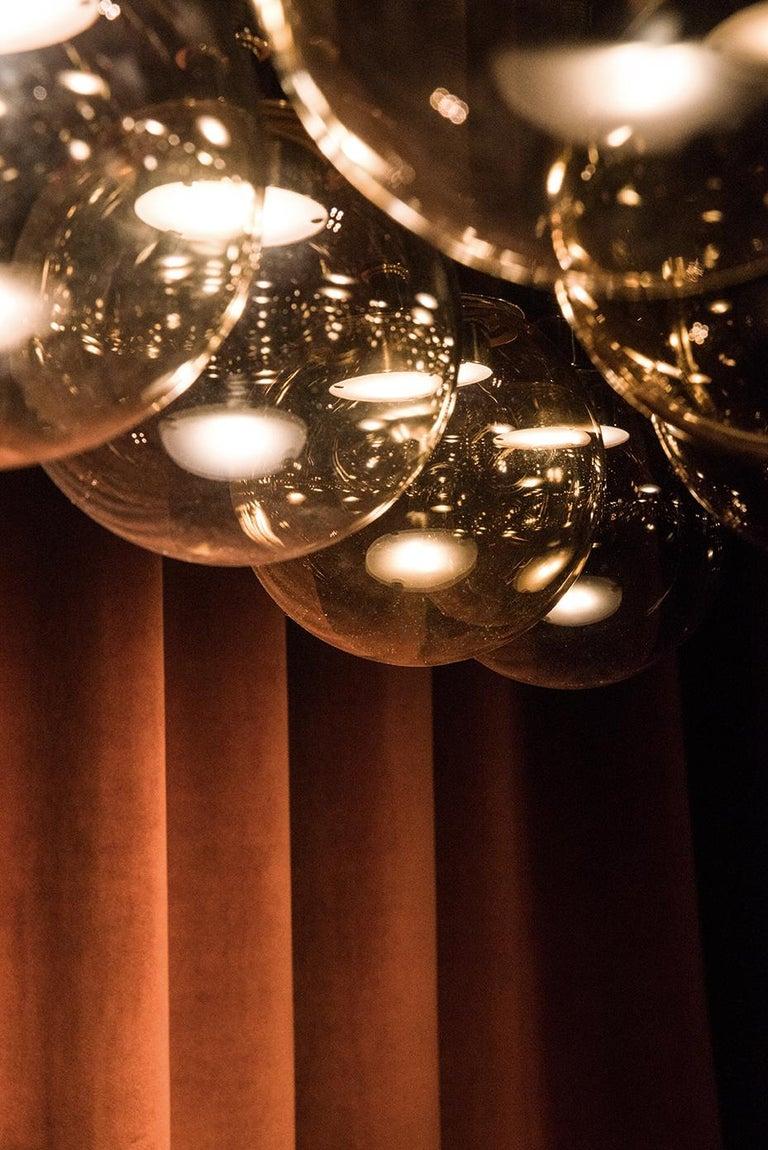 Contemporary Magus Suspension 13 lamps in Murano Glass by Filippo Feroldi (Euro)  For Sale