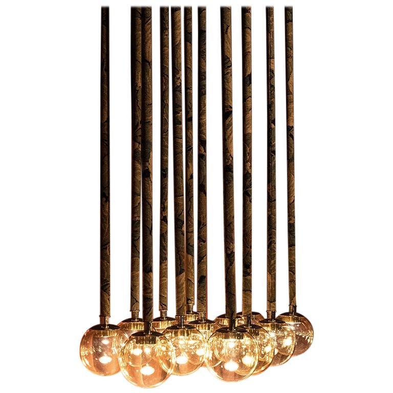 Magus Suspension 13 lamps in Murano Glass by Filippo Feroldi  For Sale
