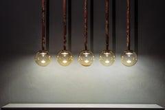 Magus Suspension 5 lamps in Murano Glass by Filippo Feroldi (Euro)