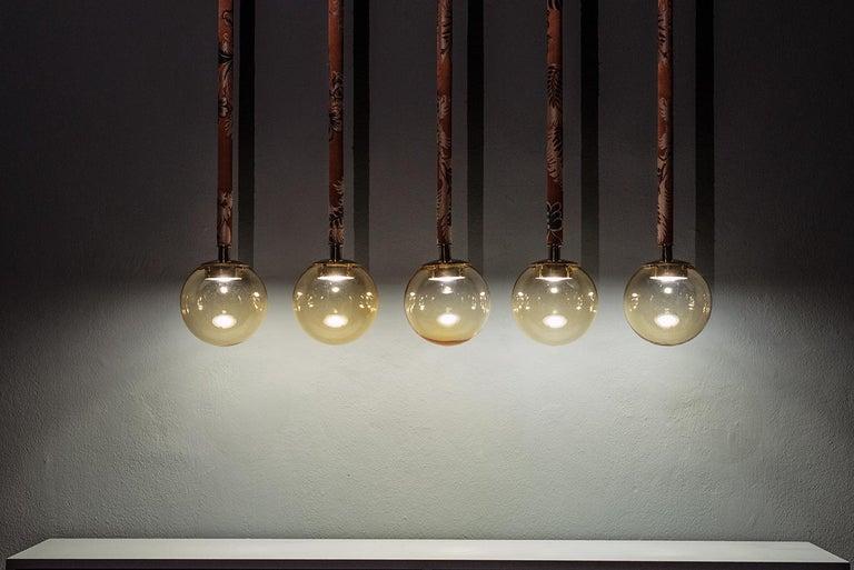 Magus Suspension 5 lamps in Murano Glass by Filippo Feroldi (Euro) For Sale