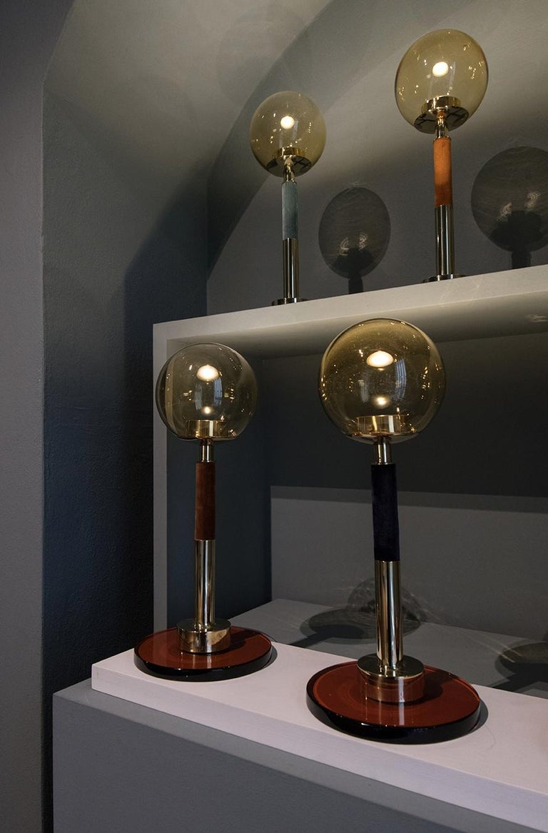 21st Century Filippo Feroldi Table Lamp Murano Glass and Brass Various Colors In New Condition For Sale In Brembate di Sopra (BG), IT