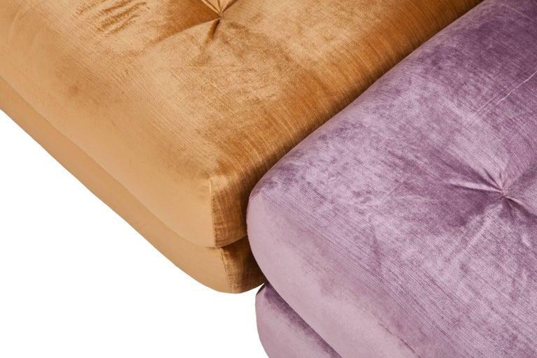 Mah Jong Modular Sectional Sofa in Gold Velvet by Roche Bobois For Sale 10