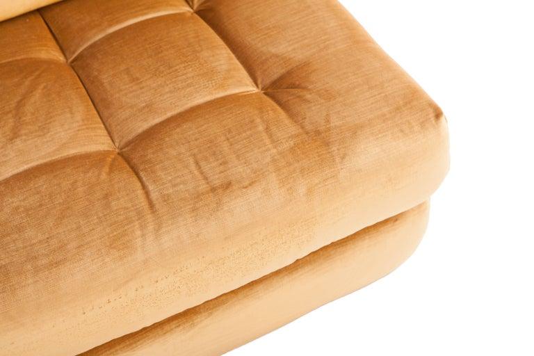 Mah Jong Modular Sectional Sofa in Gold Velvet by Roche Bobois For Sale 2