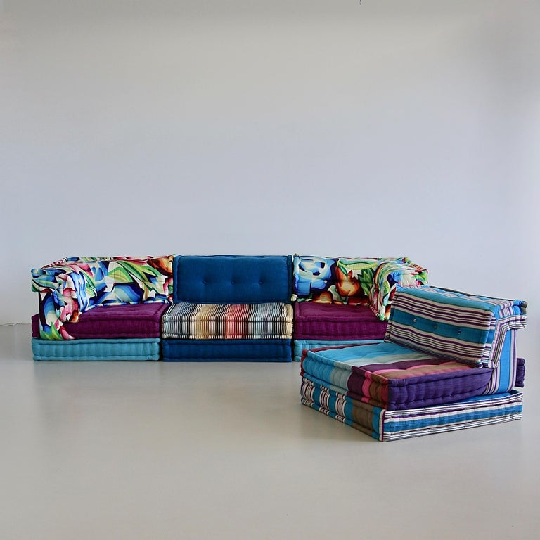 Modular sofa group, designed by Hans Hopfer. Roche Bobois, France, 1971.
