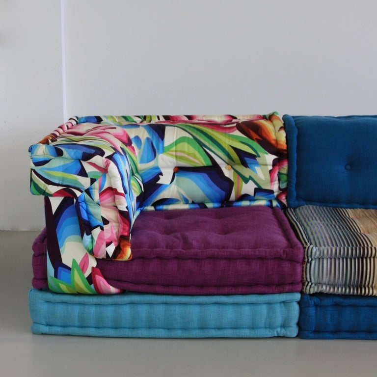 French Mah Jong Sofa by Roche Bobois For Sale