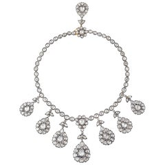 Maharaja 12.59 Carat Rose Cut Diamond Necklace
