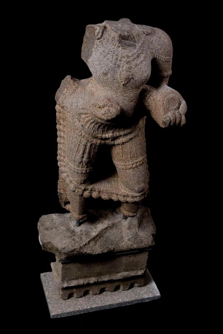 18th Century and Earlier Maharaja Granite Torso For Sale