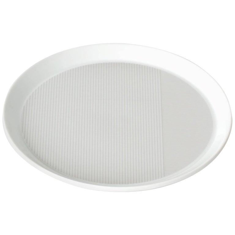 Maharam Pattern Porcelain Plate by Scholten & Baijings  For Sale
