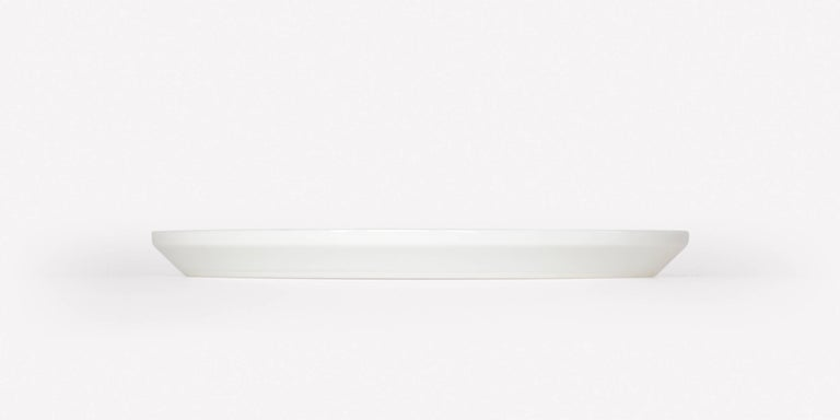 Pattern Porcelain Plate Small by Scholten & Baijings 003 Zinc   Porcelain with grid textile graphic. Glossy surface with matte underside. Made in Japan by 1616 / arita japan. Dishwasher safe.  Scholten & Baijings for Maharam is a collection of home