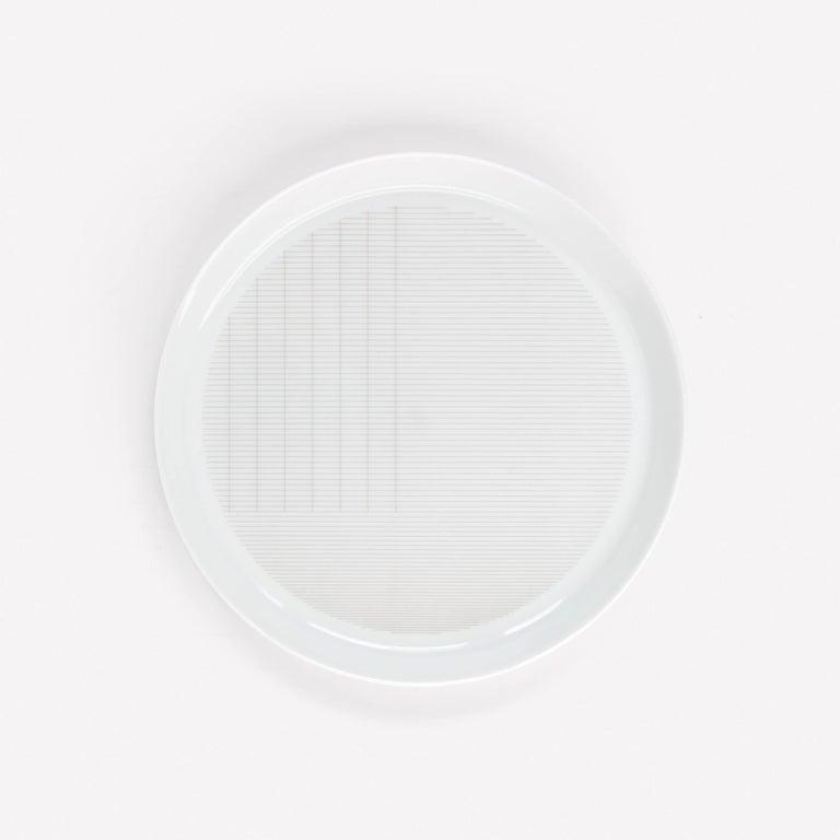 Modern Maharam Pattern Porcelain Plate Small by Scholten & Baijings  For Sale
