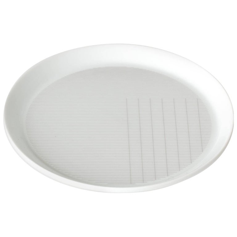 Maharam Pattern Porcelain Plate Small by Scholten & Baijings  For Sale