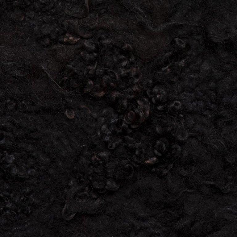 Dutch Maharam Pelt, Drenthe Heath by Claudy Jongstra, Carbon For Sale