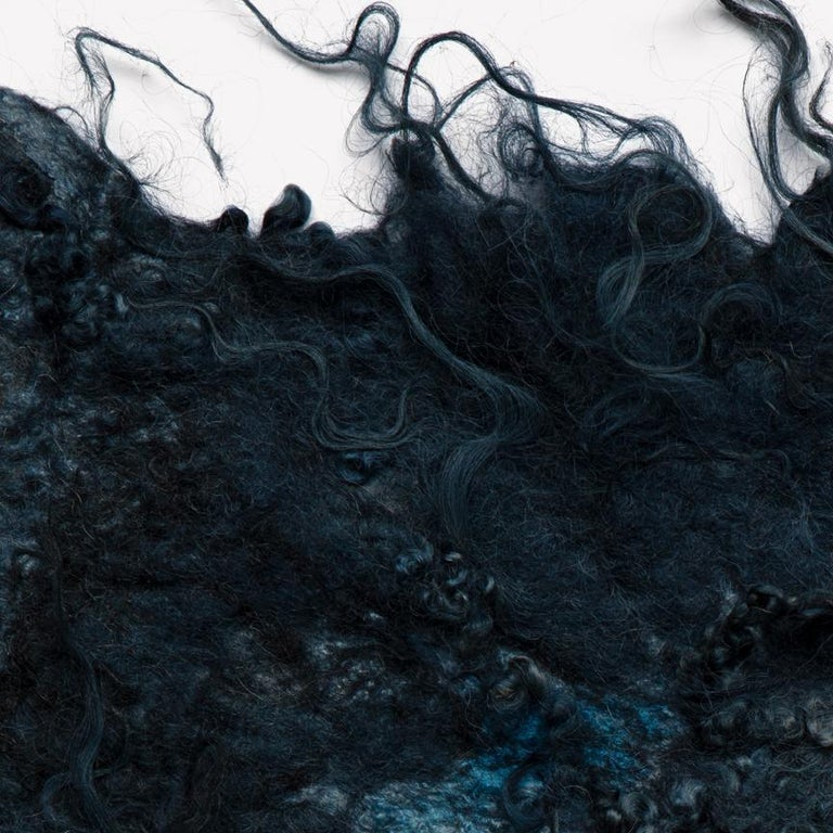 Maharam Throw Drenthe Heath by Claudy Jongstra 008 Woad   Named for the species shorn to create it, Drenthe Heath is a handmade felt by Dutch textile artist, Claudy Jongstra, who maintains a herd of sheep in the Dutch countryside along with a