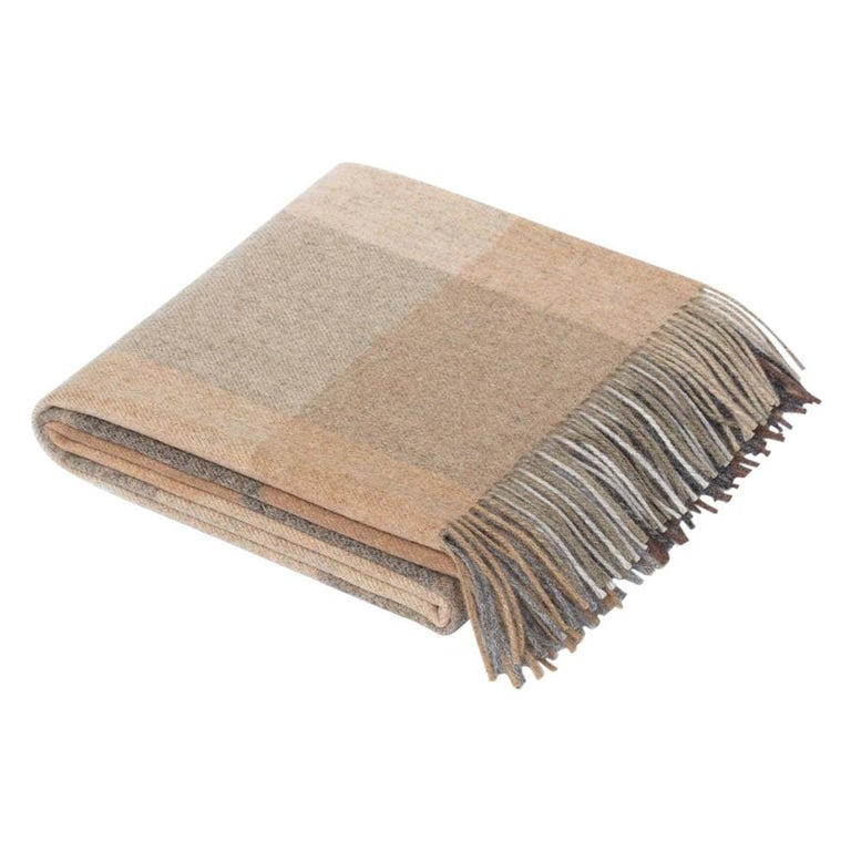 Maharam Throw, in Wool Check 001 Birch, by Paul Smith For Sale