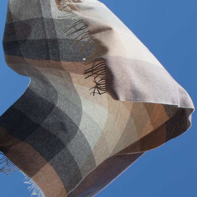 Modern Maharam Throw, in Wool Check 001 Birch, by Paul Smith For Sale