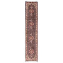 Mahi Tabriz Persian Runner with Wool and Silk