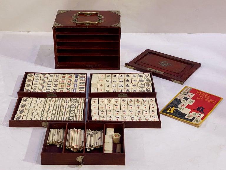MahJong Game Set in Cabinet Box, N.Y.K. Fleet Ocean Liner Edition 4