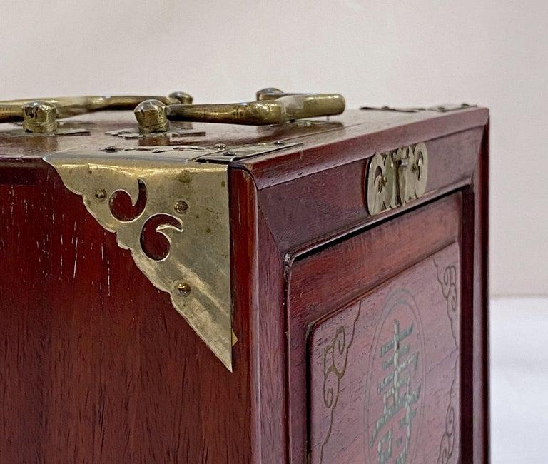 MahJong Game Set in Cabinet Box, N.Y.K. Fleet Ocean Liner Edition 13