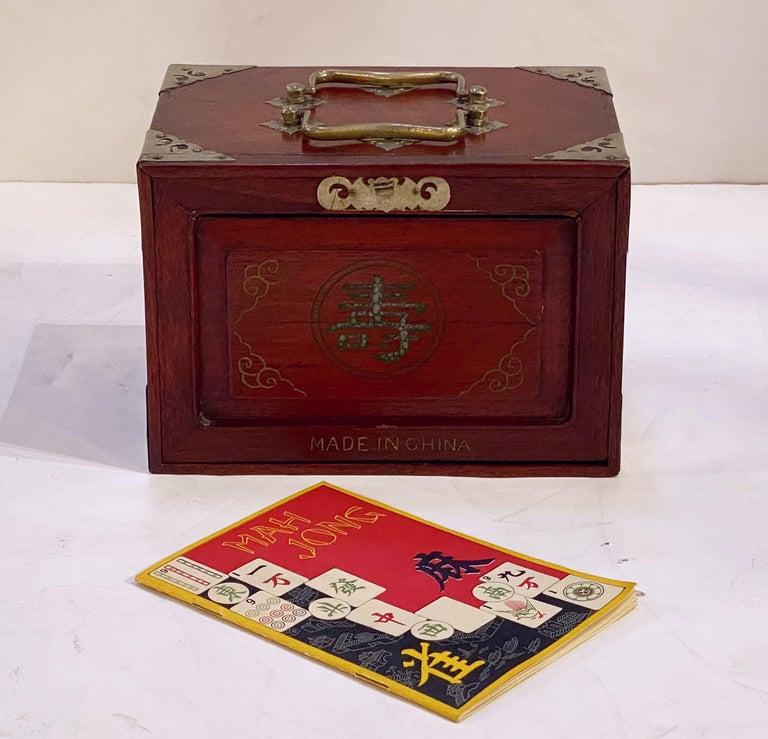 Japanese MahJong Game Set in Cabinet Box, N.Y.K. Fleet Ocean Liner Edition