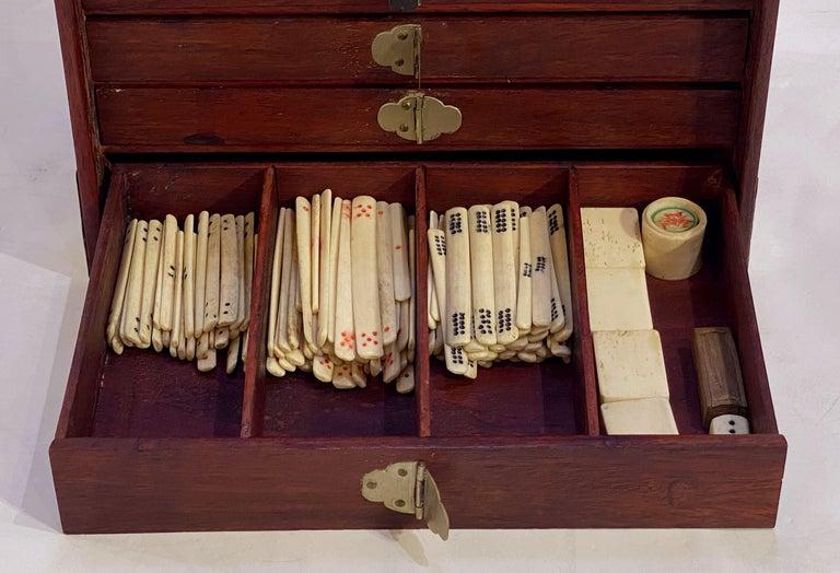 20th Century MahJong Game Set in Cabinet Box, N.Y.K. Fleet Ocean Liner Edition