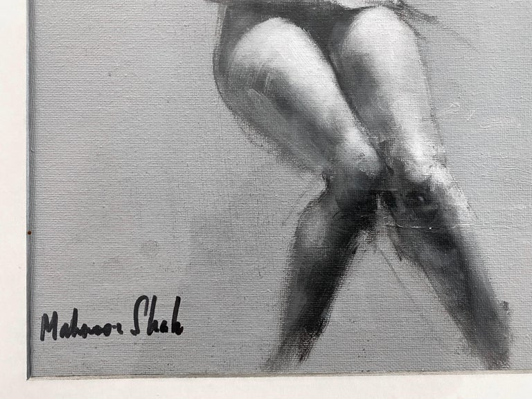 """Mahnoor Shah """"Nude Figure Study"""" Impressionist Painting, Early 2010s For Sale 2"""