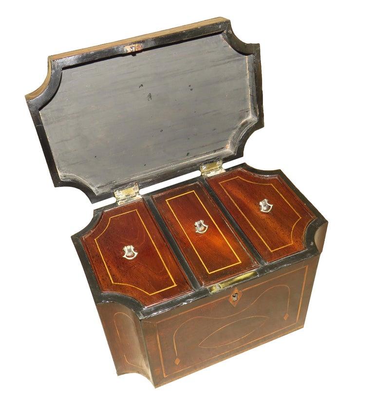 English Mahogany 18th Century Tea Caddy