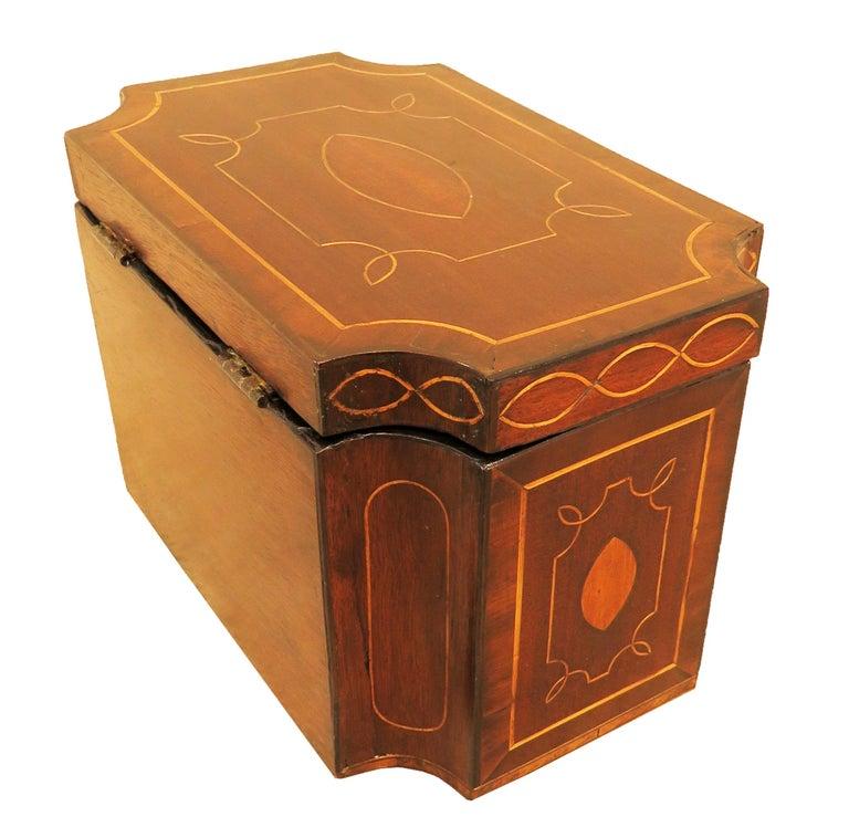 Mahogany 18th Century Tea Caddy 1