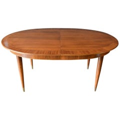 Mahogany and Brass Dining Table by Erno Fabry, Germany, circa 1955