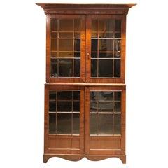 Mahogany and Cherry American 19th Century Bookcase