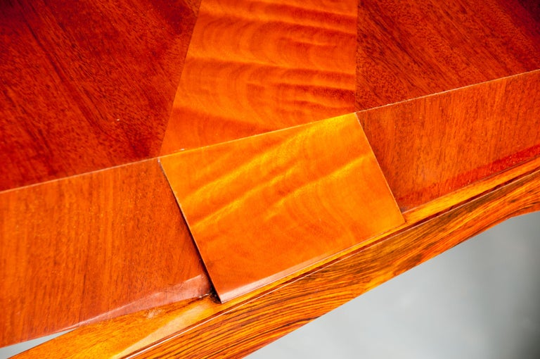 Colorful Modernists Art  Inspired Sculptural Mahogany Desk with Secret Drawers For Sale 3