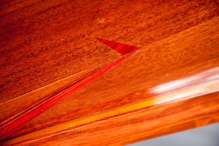 Colorful Modernists Art  Inspired Sculptural Mahogany Desk with Secret Drawers For Sale 4