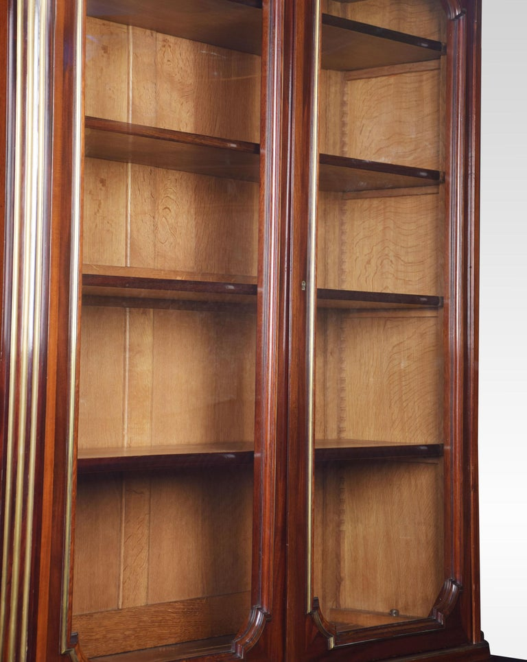 Mahogany and Gilt Metal Mounted Two-Door Bookcase For Sale 1
