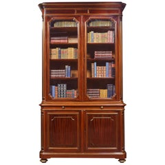 Mahogany and Gilt Metal Mounted Two-Door Bookcase