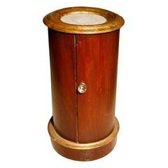 Mahogany and gilt pot table