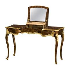Mahogany and Gilt Rococo Dressing Table