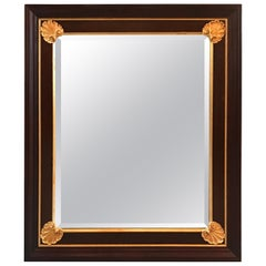 Mahogany and Giltwood Beveled Mirror