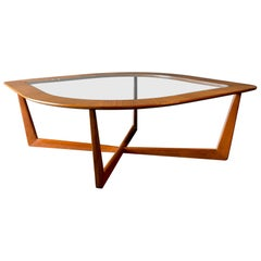 Mahogany and Glass Coffee Table by Erno Fabry, circa 1955