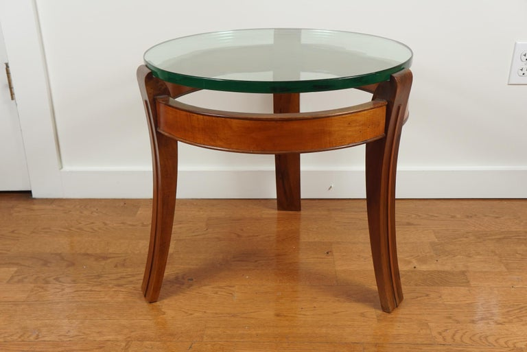 Mahogany and Glass Occasional Table by Fontana Arte For Sale 5