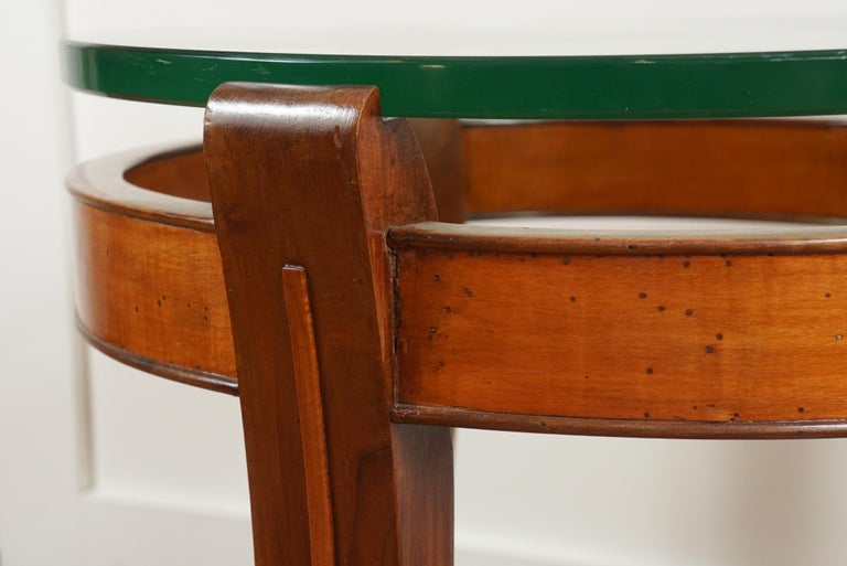 Mid-20th Century Mahogany and Glass Occasional Table by Fontana Arte For Sale