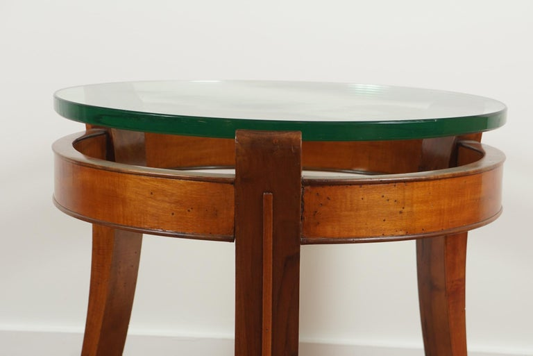 Mahogany and Glass Occasional Table by Fontana Arte For Sale 2