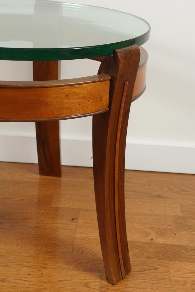 Mahogany and Glass Occasional Table by Fontana Arte For Sale 3