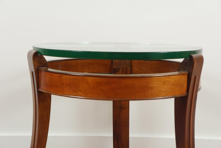 Mahogany and Glass Occasional Table by Fontana Arte For Sale 4