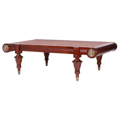 Mahogany and Grasscloth Coffee Table
