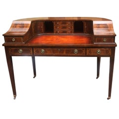 Mahogany and Leather Carlton House Desk
