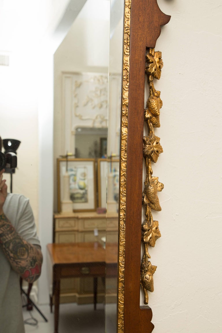 Mahogany and Parcel-Gilt George II Style Mirrors For Sale 1